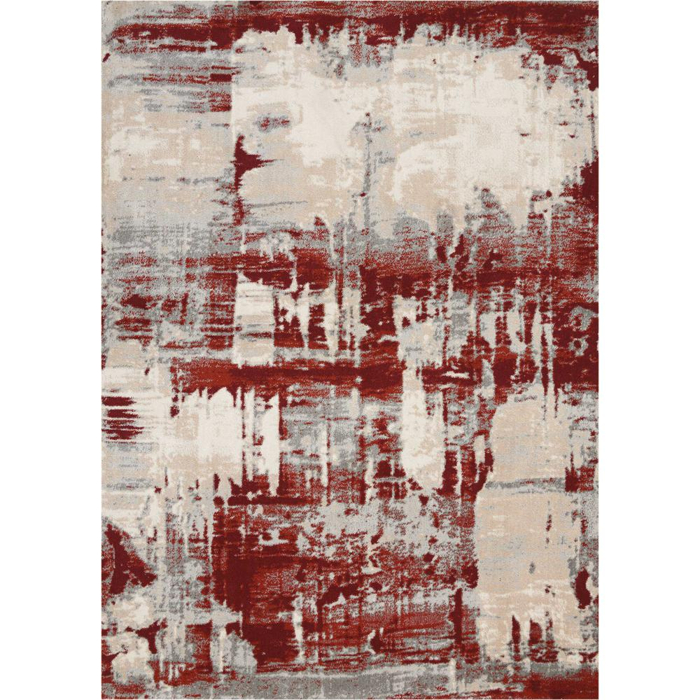 """Maxell Area Rug, Ivory/Red, 9'3"""" x 12'9"""". Picture 1"""