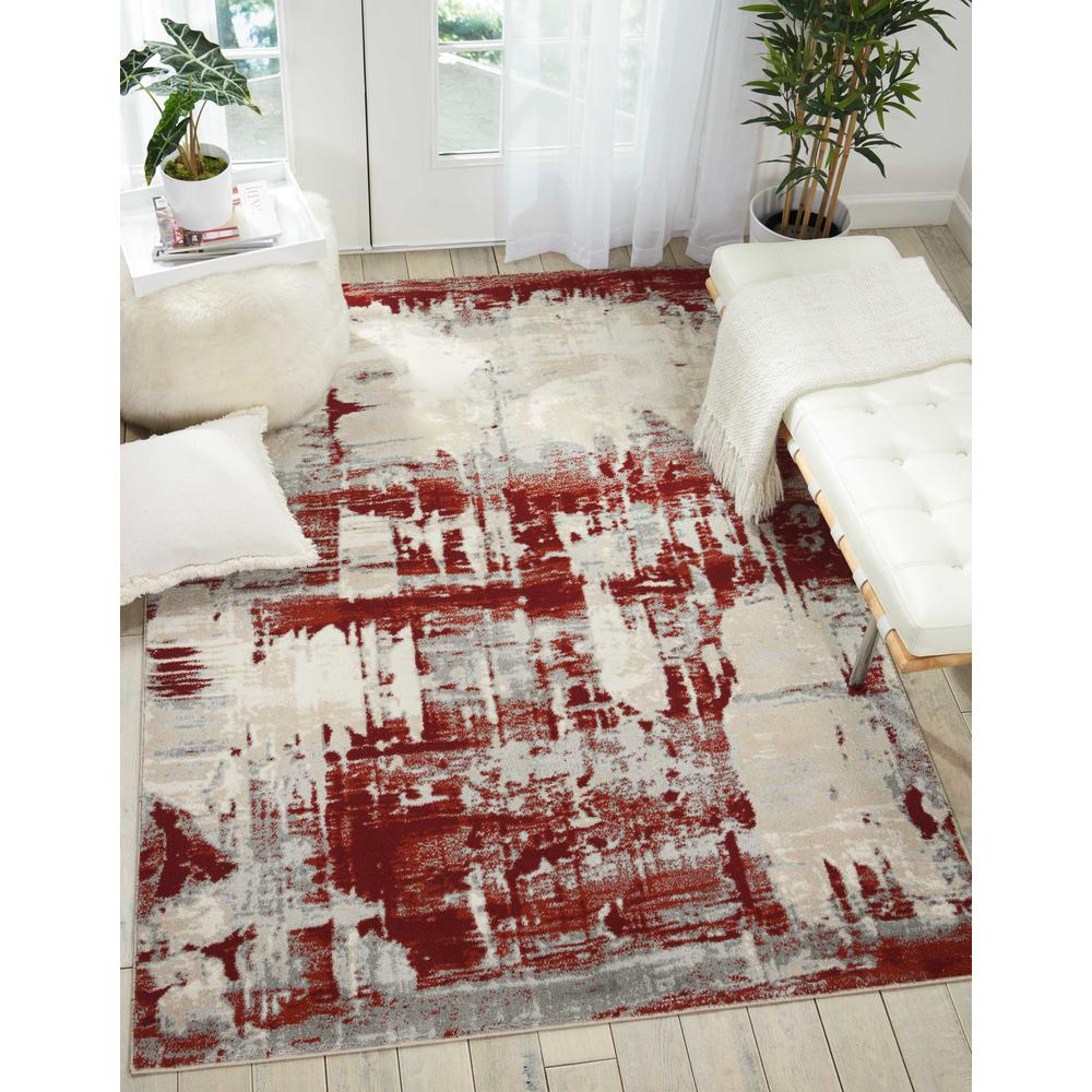 """Maxell Area Rug, Ivory/Red, 9'3"""" x 12'9"""". Picture 2"""