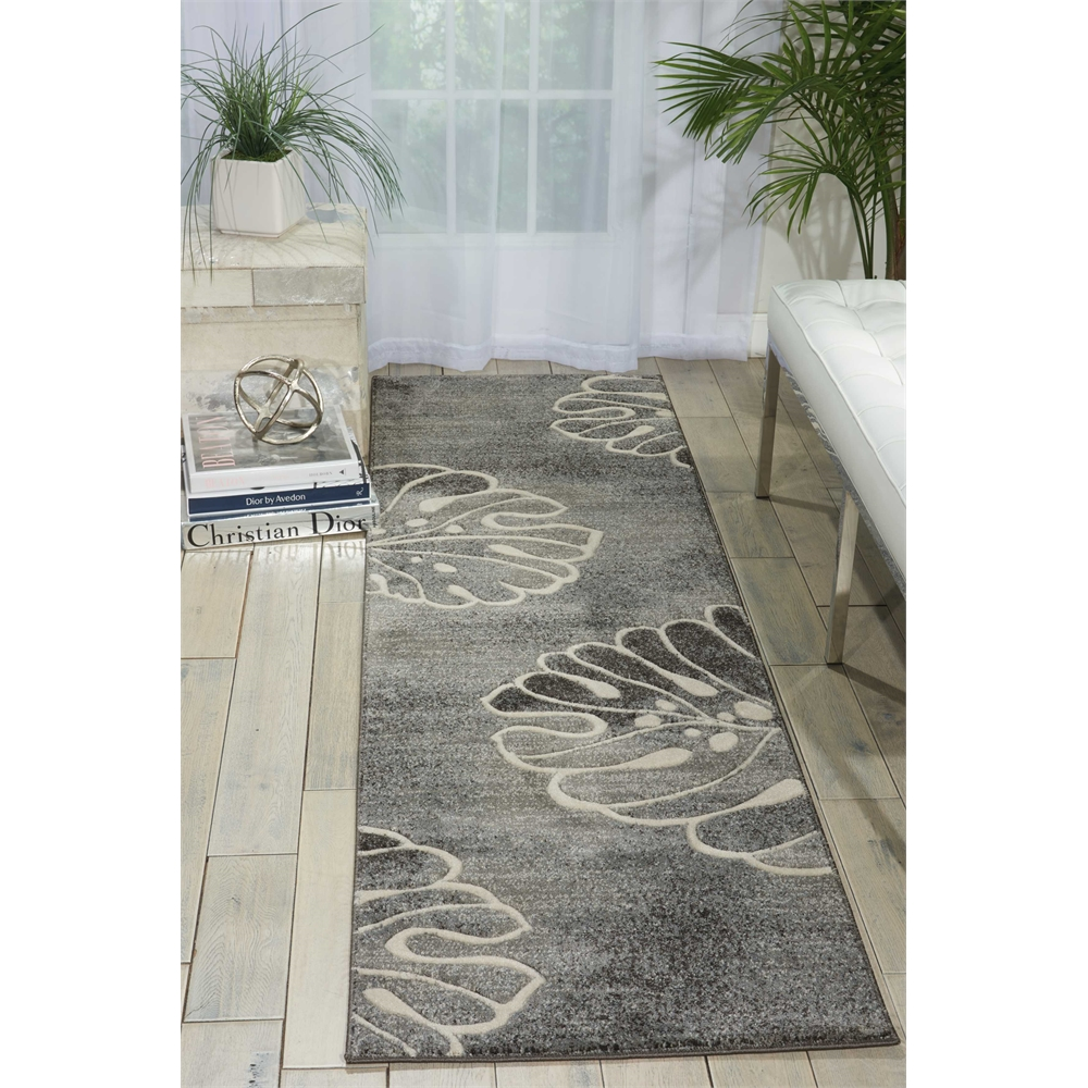 "Maxell Area Rug, Grey, 2'2"" x 7'6"". Picture 4"