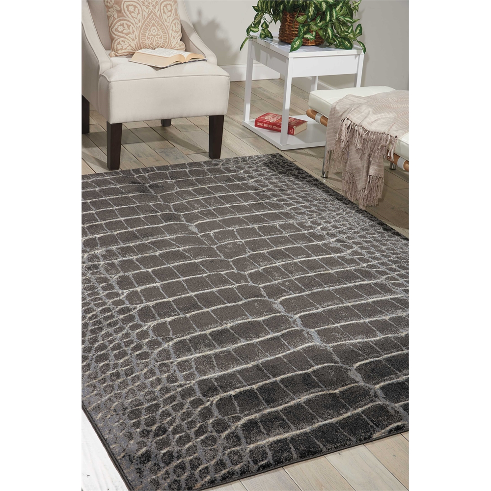 """Maxell Area Rug, Charcoal, 5'3"""" x 7'3"""". Picture 6"""