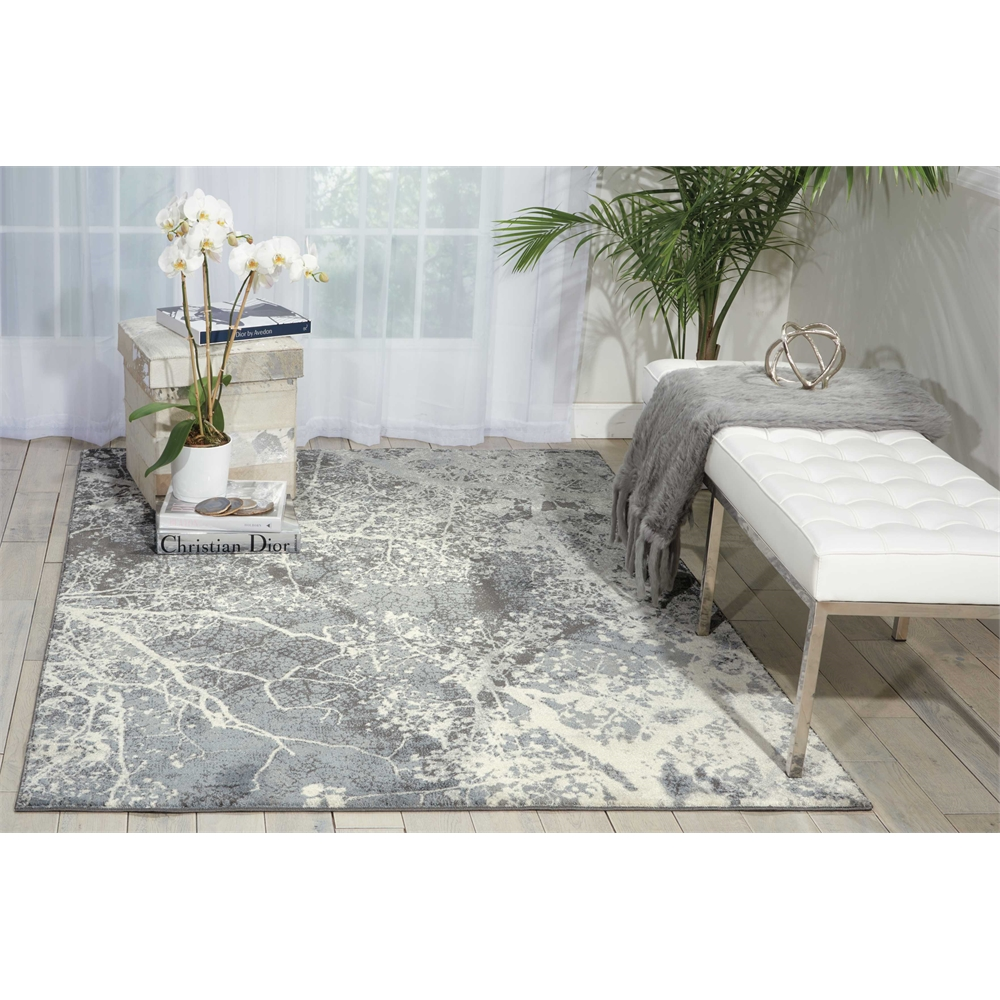 """Maxell Area Rug, Grey, 5'3"""" x 7'3"""". Picture 6"""