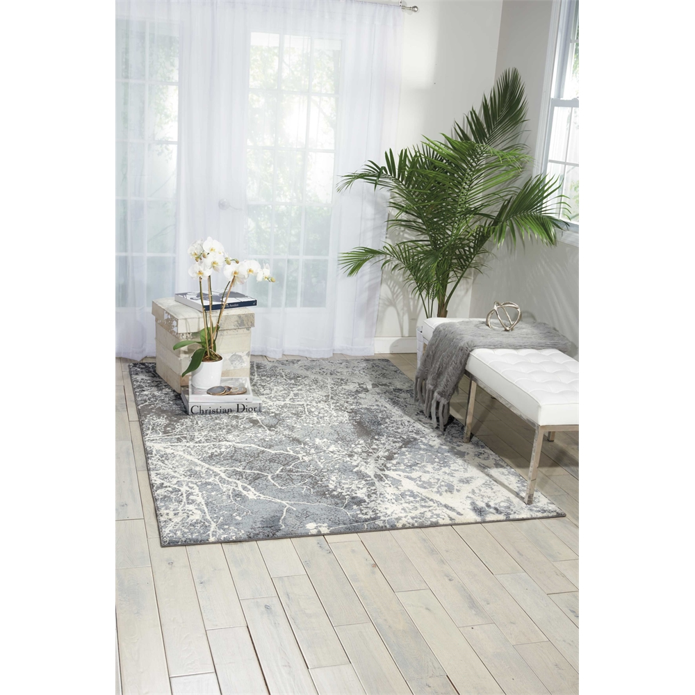 """Maxell Area Rug, Grey, 5'3"""" x 7'3"""". Picture 7"""