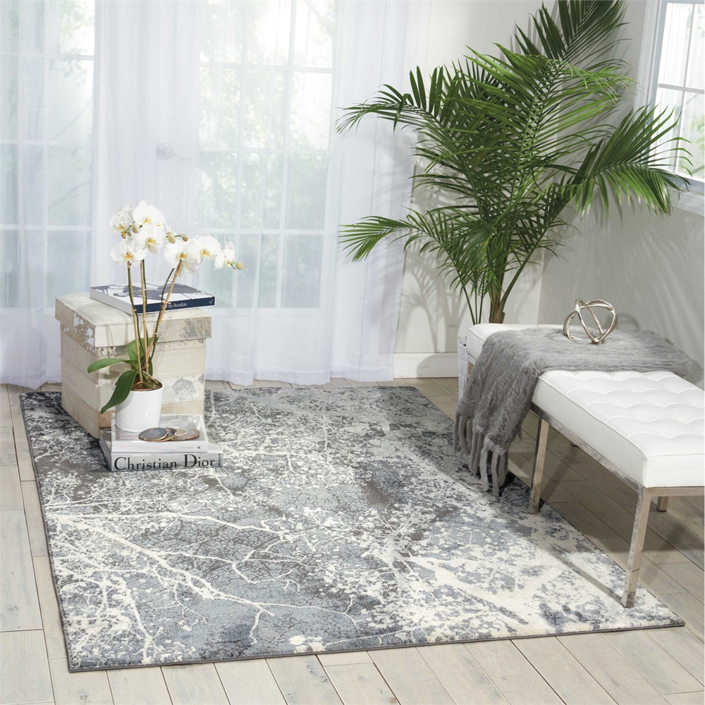 """Maxell Area Rug, Grey, 5'3"""" x 7'3"""". Picture 8"""