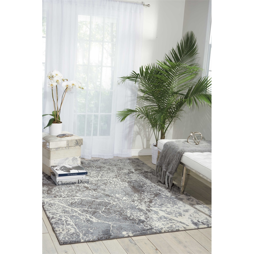 """Maxell Area Rug, Grey, 5'3"""" x 7'3"""". Picture 9"""