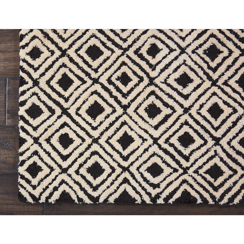 "Modern Deco Area Rug, Black/Beige, 2'3"" x 7'6"". Picture 4"
