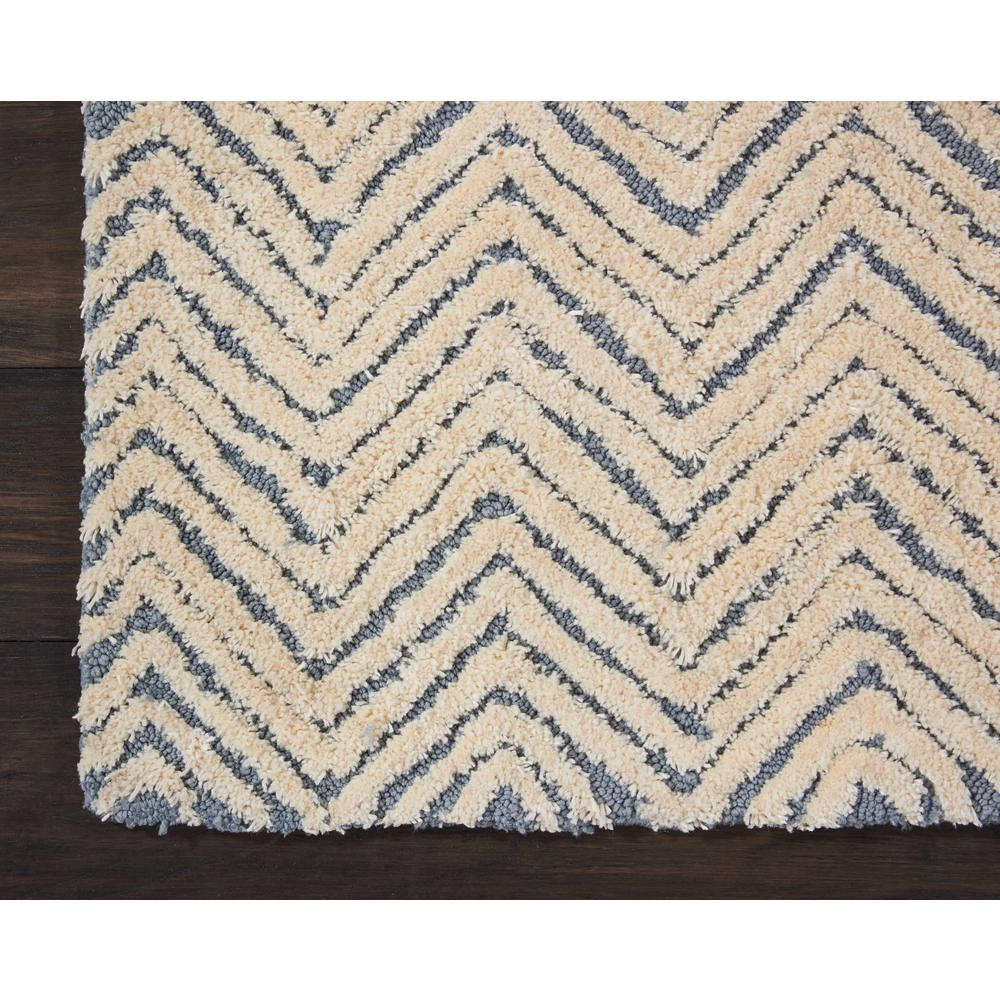 """Modern Deco Area Rug, Light Blue/Ivory, 2'3"""" x 7'6"""". Picture 4"""