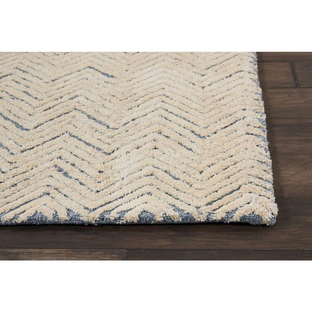 """Modern Deco Area Rug, Light Blue/Ivory, 2'3"""" x 7'6"""". Picture 3"""