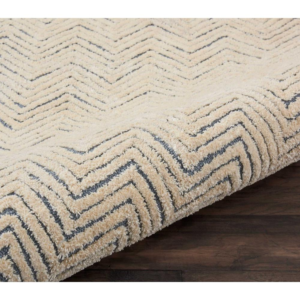 """Modern Deco Area Rug, Light Blue/Ivory, 2'3"""" x 7'6"""". Picture 5"""