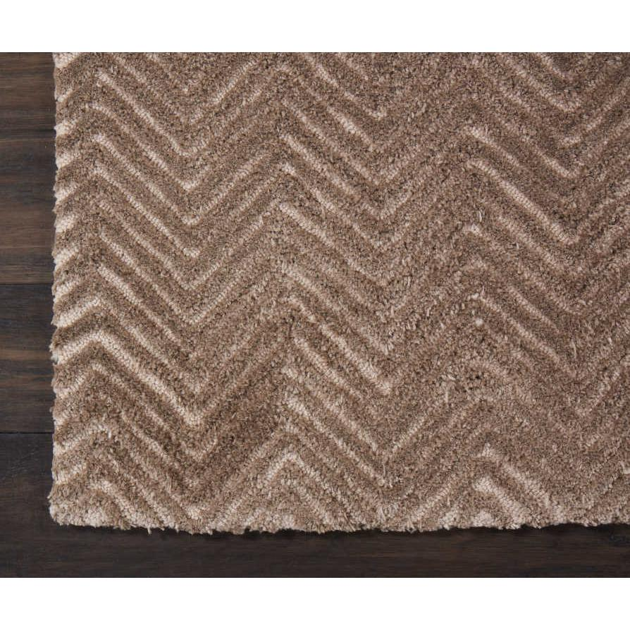 """Modern Deco Area Rug, Taupe, 2'3"""" x 7'6"""". Picture 4"""