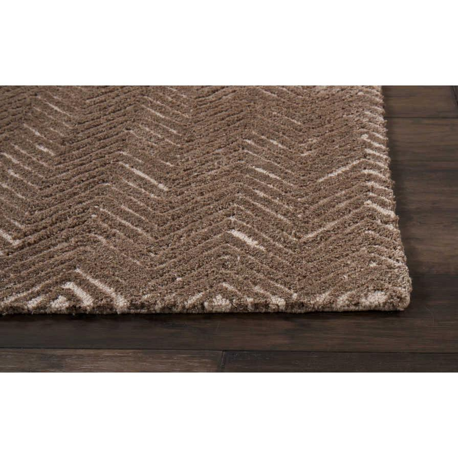 """Modern Deco Area Rug, Taupe, 2'3"""" x 7'6"""". Picture 3"""