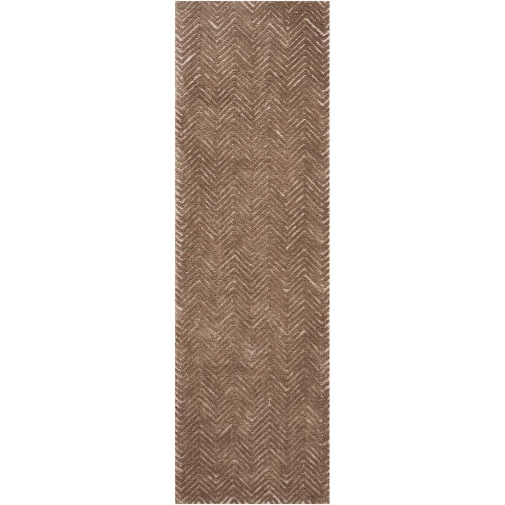 """Modern Deco Area Rug, Taupe, 2'3"""" x 7'6"""". Picture 1"""