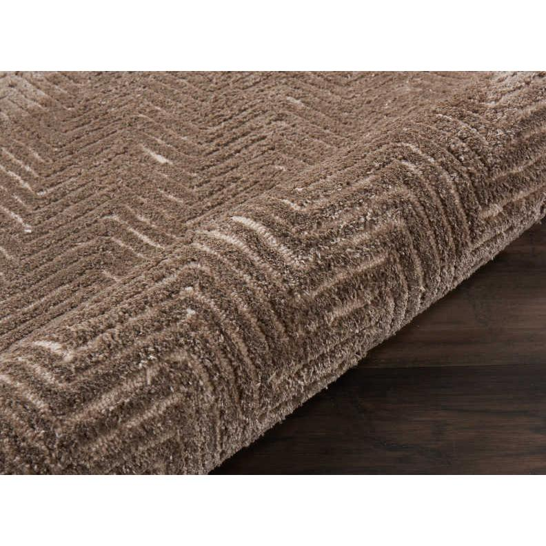 """Modern Deco Area Rug, Taupe, 2'3"""" x 7'6"""". Picture 5"""