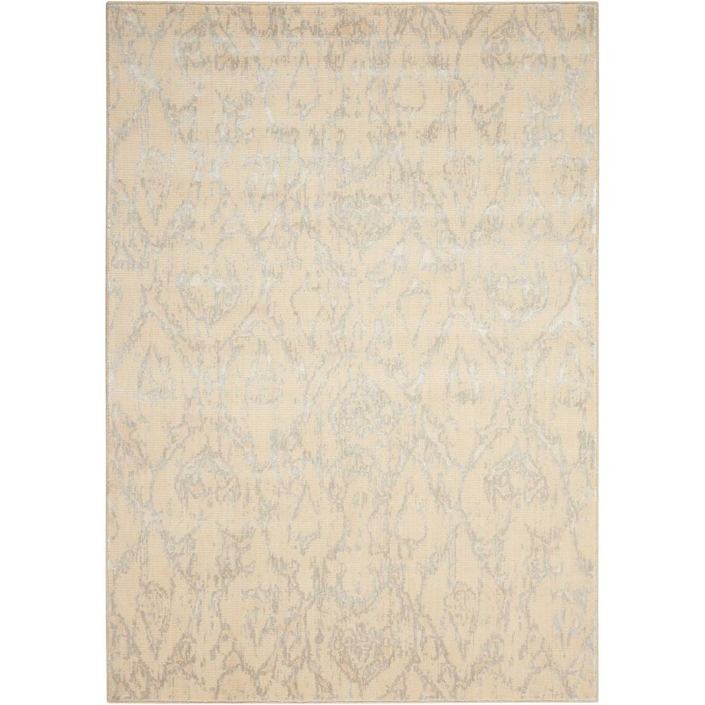 "Nepal Area Rug, Bone, 9'6"" x 13'. Picture 1"