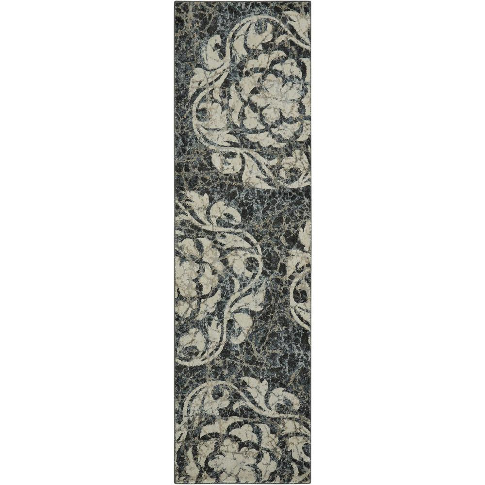 "Maxell Area Rug, Ivory/Charcoal, 2'2"" x 7'6"". Picture 1"