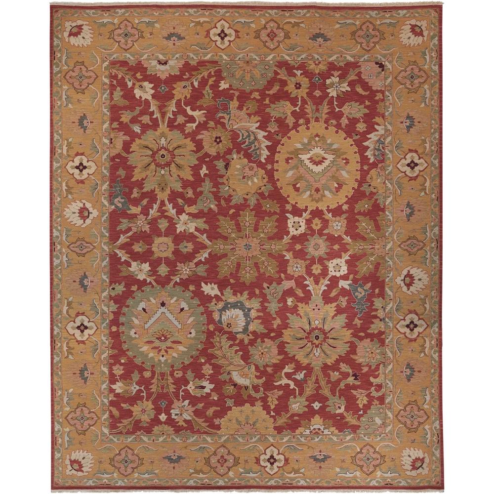 9 X 12 Nourison Nourmak Hand Knotted 100 Wool Persian: Nourmak Rust Area Rug