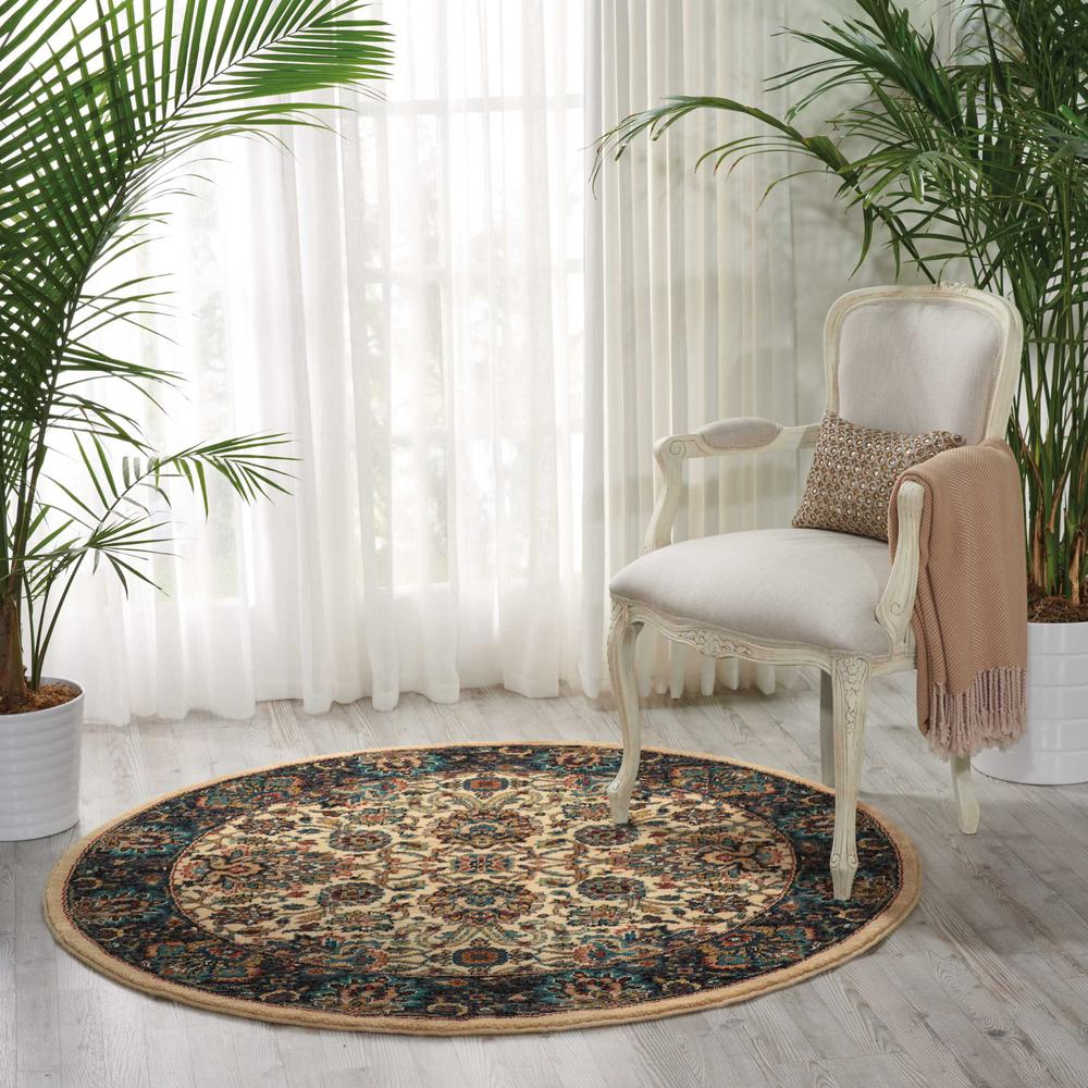 """Nourison 2020 Area Rug, Ivory, 7'5"""" x ROUND. Picture 2"""