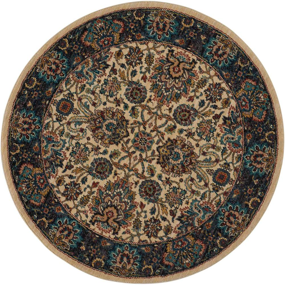 Nourison 2020 Area Rug, Ivory, 5' x ROUND. Picture 1