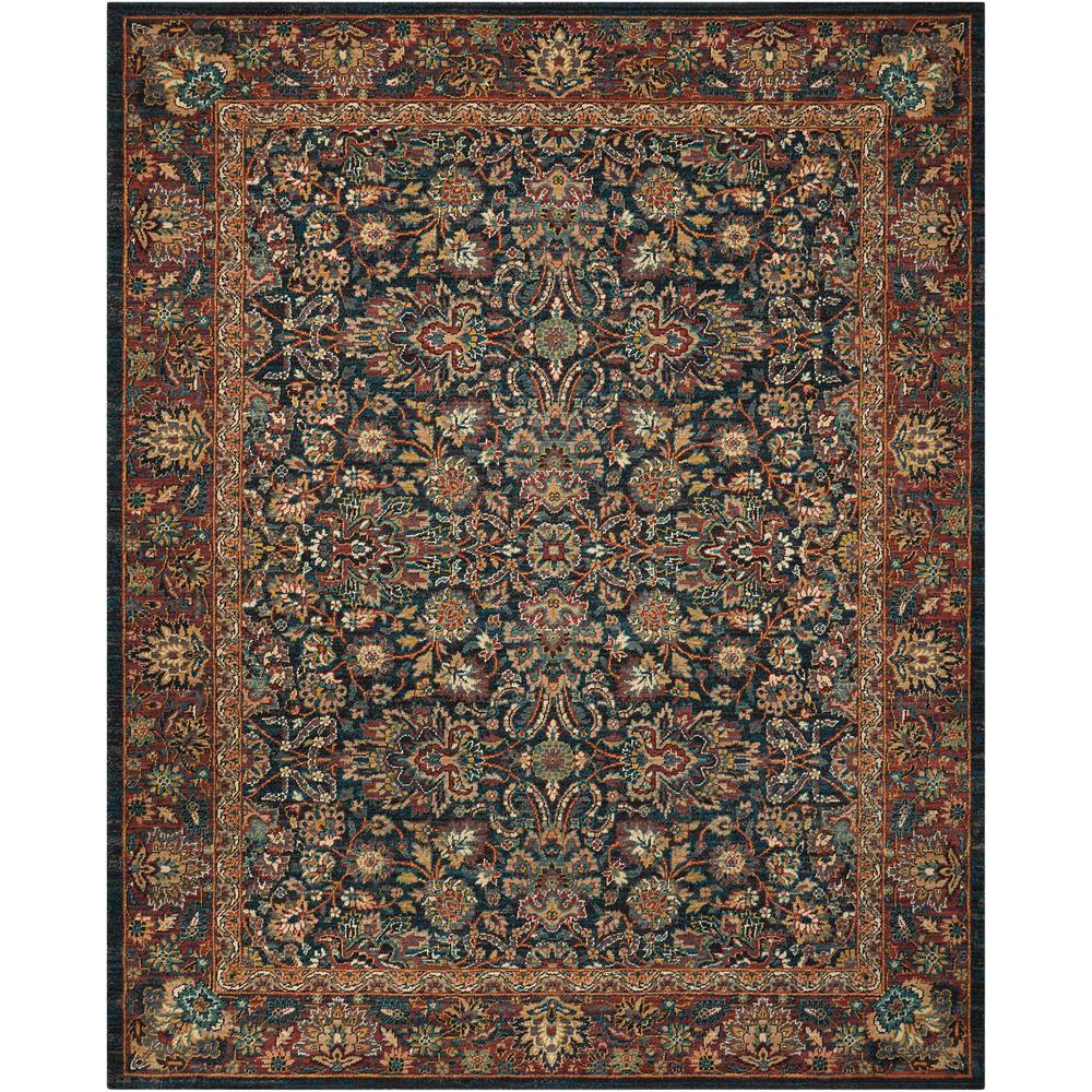 Nourison 2020 Area Rug, Navy, 4' x 6'. Picture 1