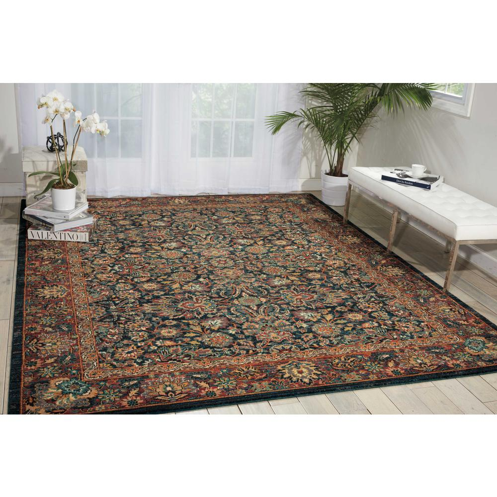 Nourison 2020 Area Rug, Navy, 4' x 6'. Picture 2