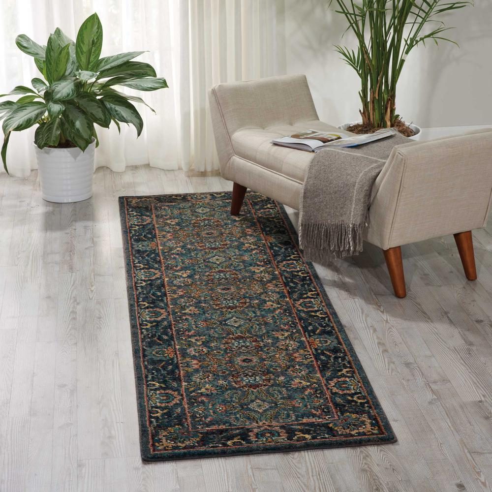 "Nourison 2020 Area Rug, Steel, 2'3"" x 8'. Picture 2"