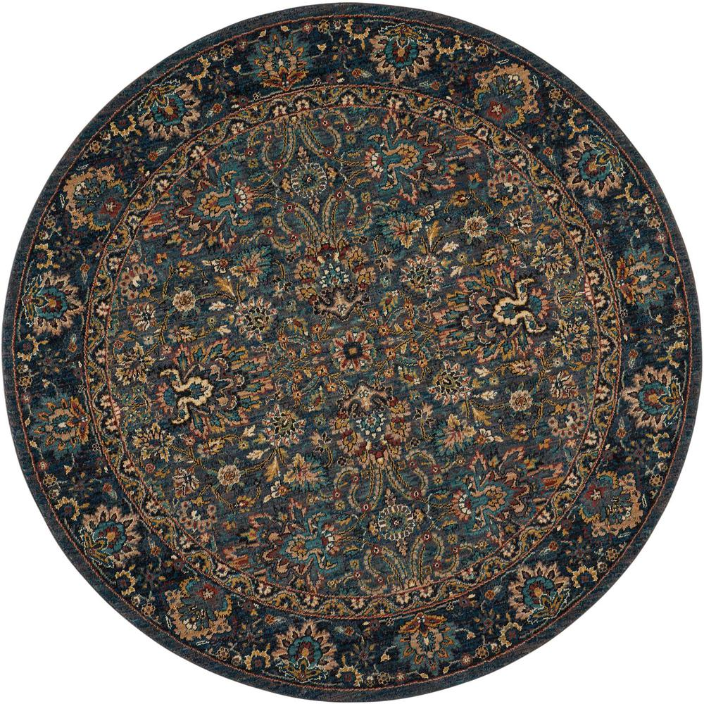 "Nourison 2020 Area Rug, Steel, 7'5"" x ROUND. The main picture."