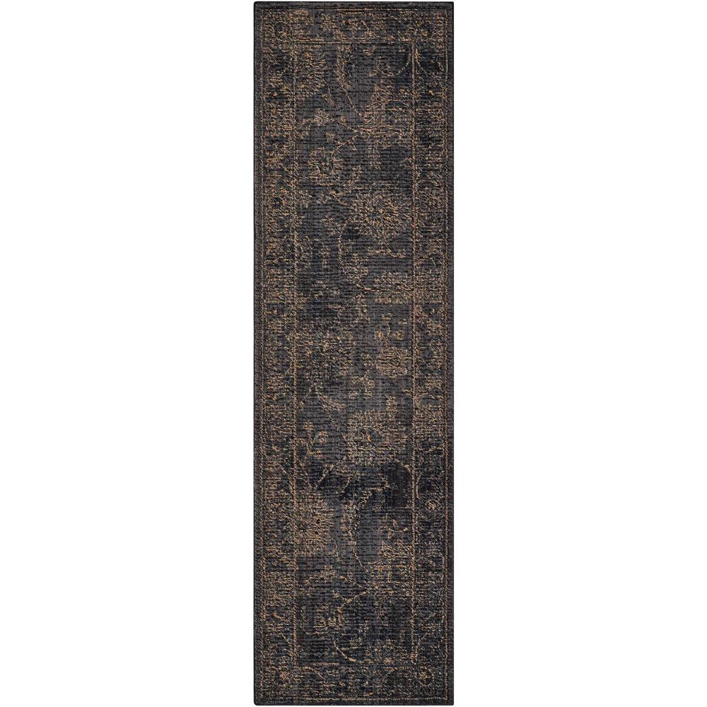 "Nourison 2020 Area Rug, Charcoal, 2'3"" x 11'. The main picture."