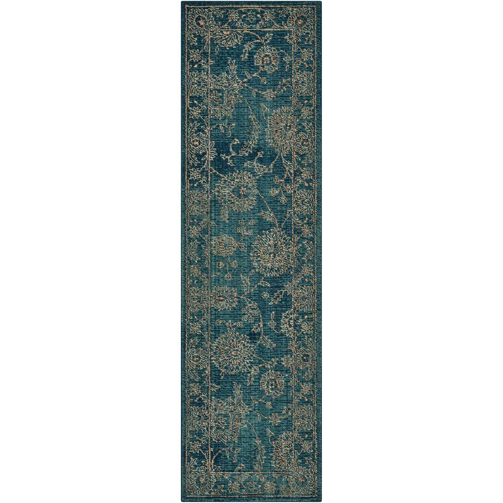 """Nourison 2020 Area Rug, Teal, 2'3"""" x 8'. Picture 1"""
