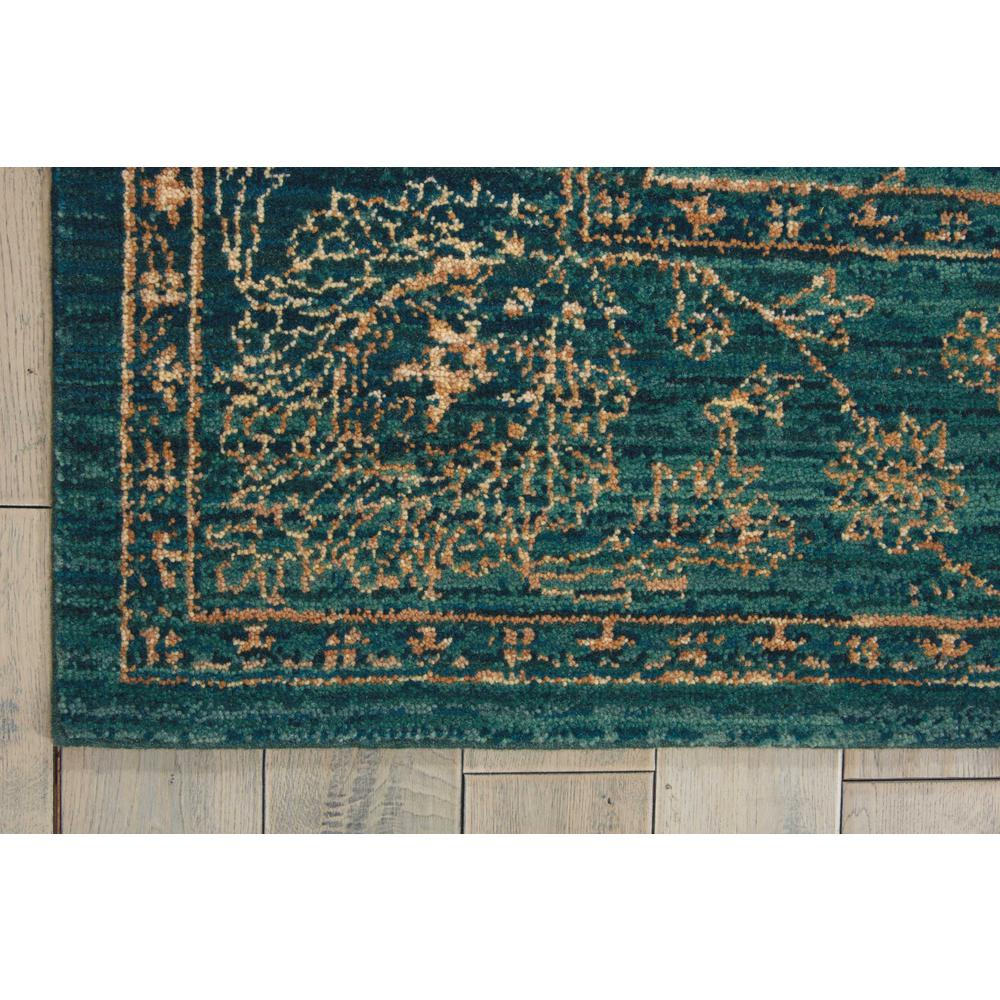 "Nourison 2020 Area Rug, Teal, 5'3"" x 7'5"". Picture 4"