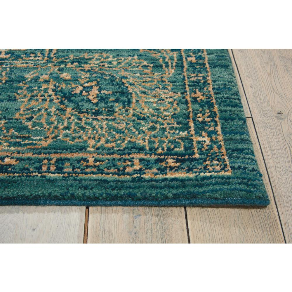 "Nourison 2020 Area Rug, Teal, 5'3"" x 7'5"". Picture 5"