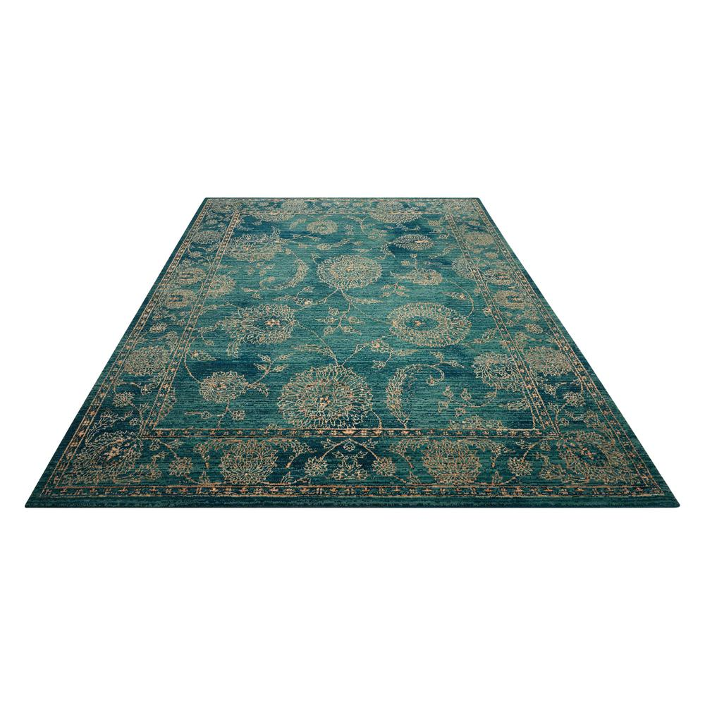 "Nourison 2020 Area Rug, Teal, 5'3"" x 7'5"". Picture 3"