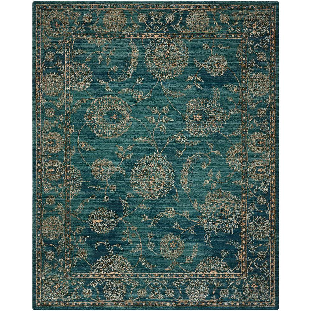 "Nourison 2020 Area Rug, Teal, 5'3"" x 7'5"". Picture 1"