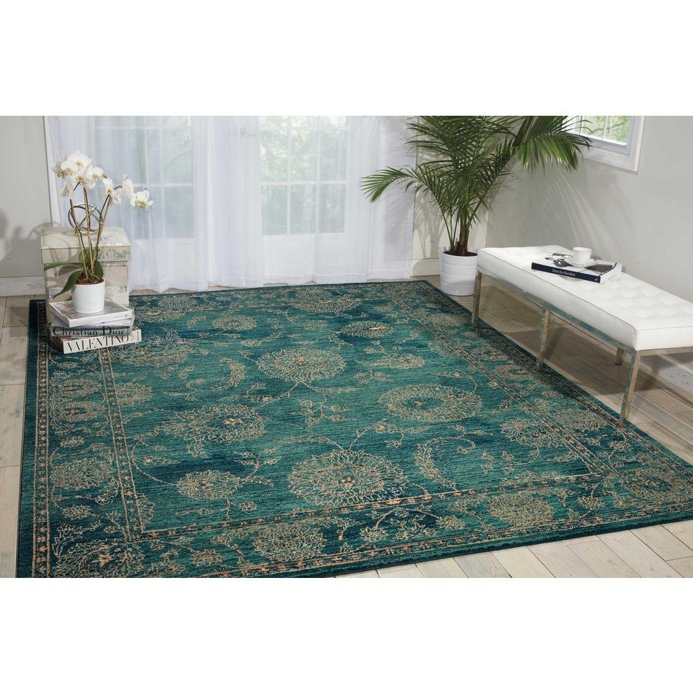 "Nourison 2020 Area Rug, Teal, 5'3"" x 7'5"". Picture 2"