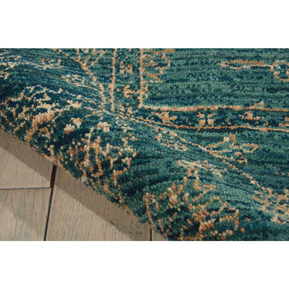 "Nourison 2020 Area Rug, Teal, 5'3"" x 7'5"". Picture 6"