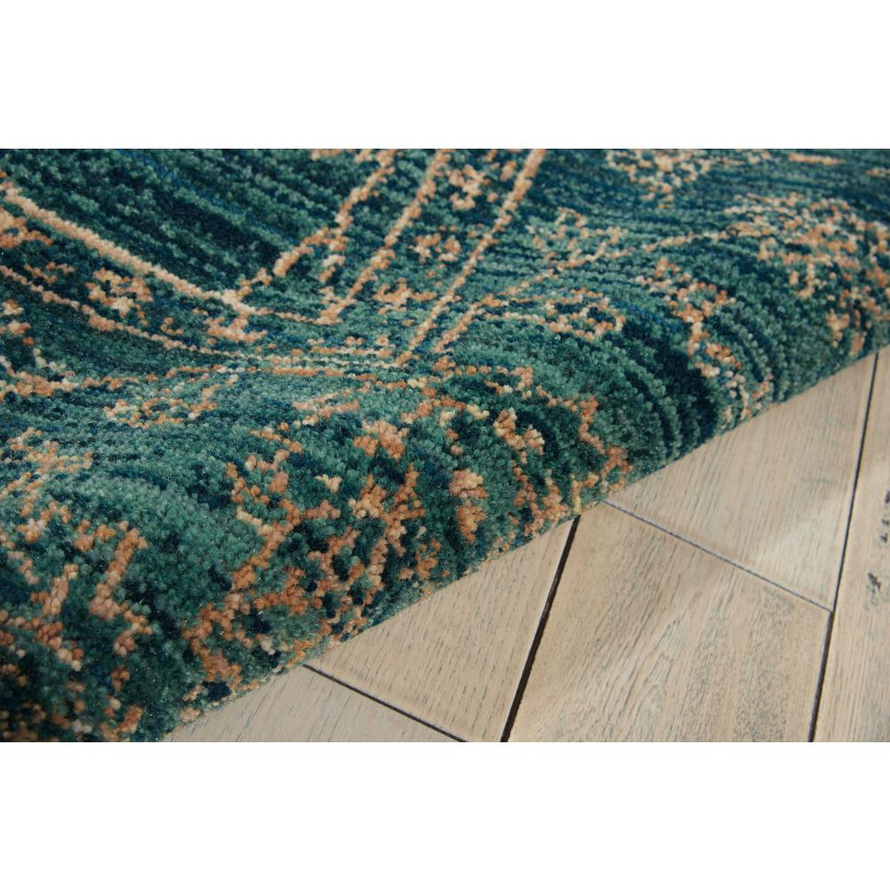 "Nourison 2020 Area Rug, Teal, 5'3"" x 7'5"". Picture 7"