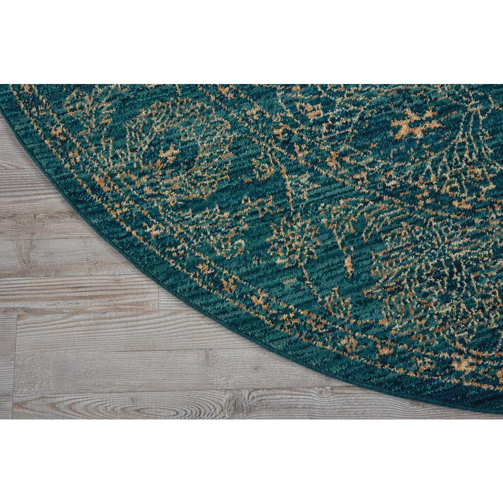 """Nourison 2020 Area Rug, Teal, 7'5"""" x ROUND. Picture 3"""