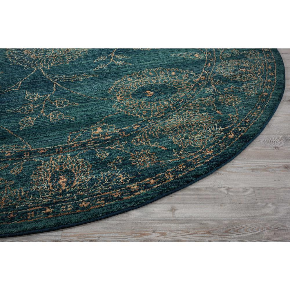 """Nourison 2020 Area Rug, Teal, 7'5"""" x ROUND. Picture 4"""