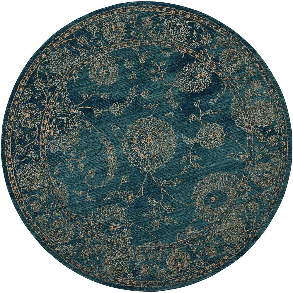"""Nourison 2020 Area Rug, Teal, 7'5"""" x ROUND. Picture 1"""