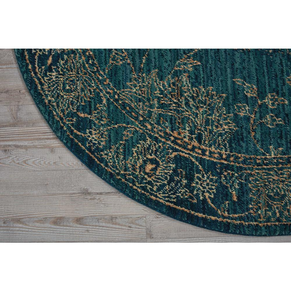 Nourison 2020 Area Rug, Teal, 5' x ROUND. Picture 3