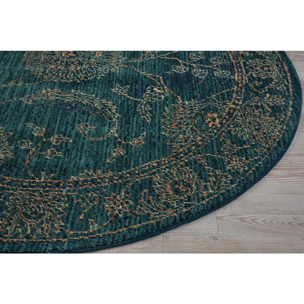 Nourison 2020 Area Rug, Teal, 5' x ROUND. Picture 4