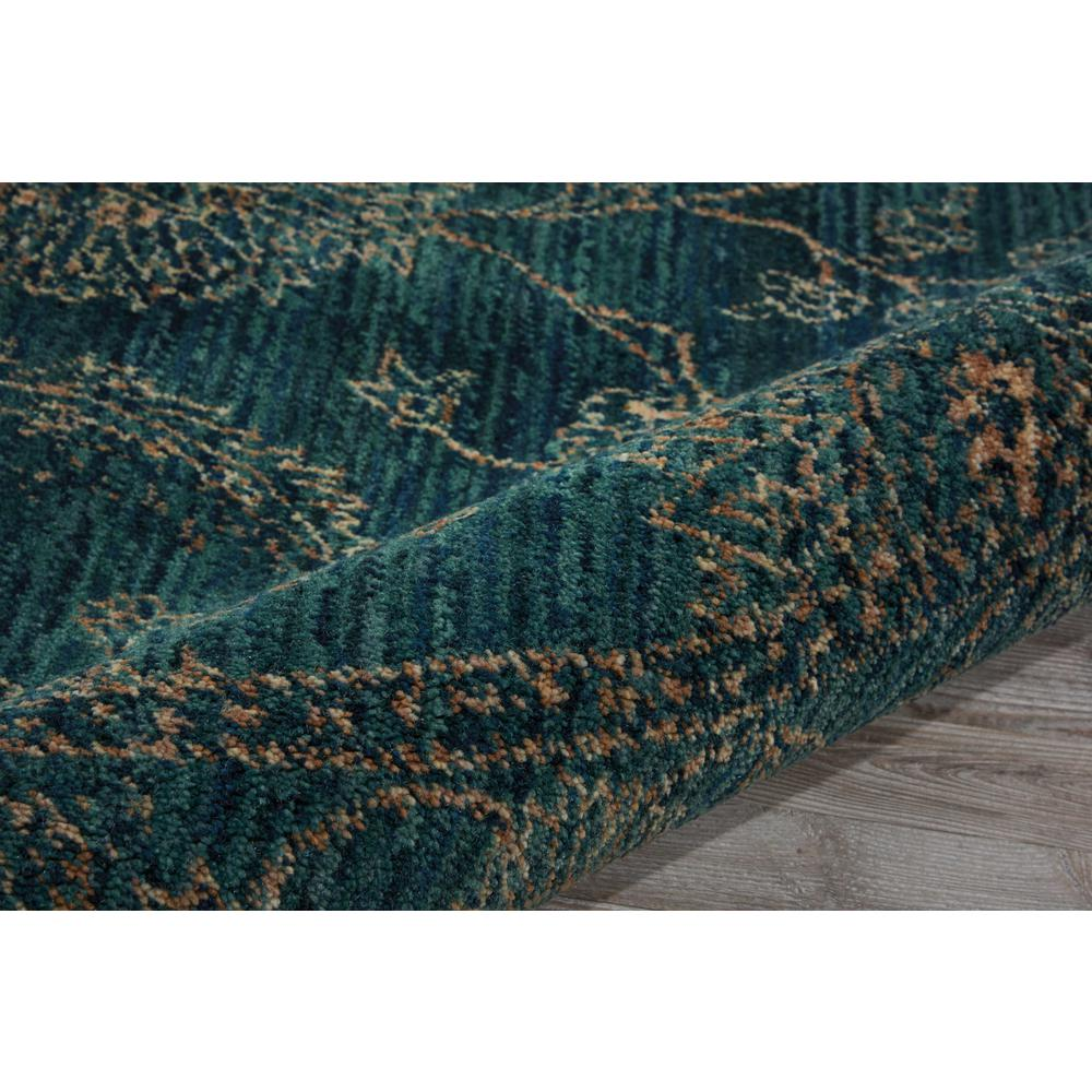 Nourison 2020 Area Rug, Teal, 5' x ROUND. Picture 5