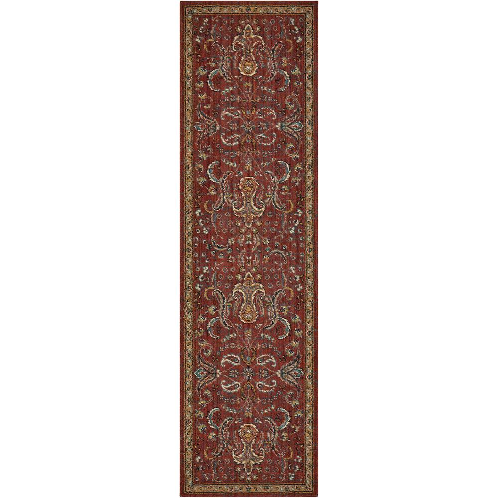 "Nourison 2020 Area Rug, Brick, 2'3"" x 8'. Picture 1"