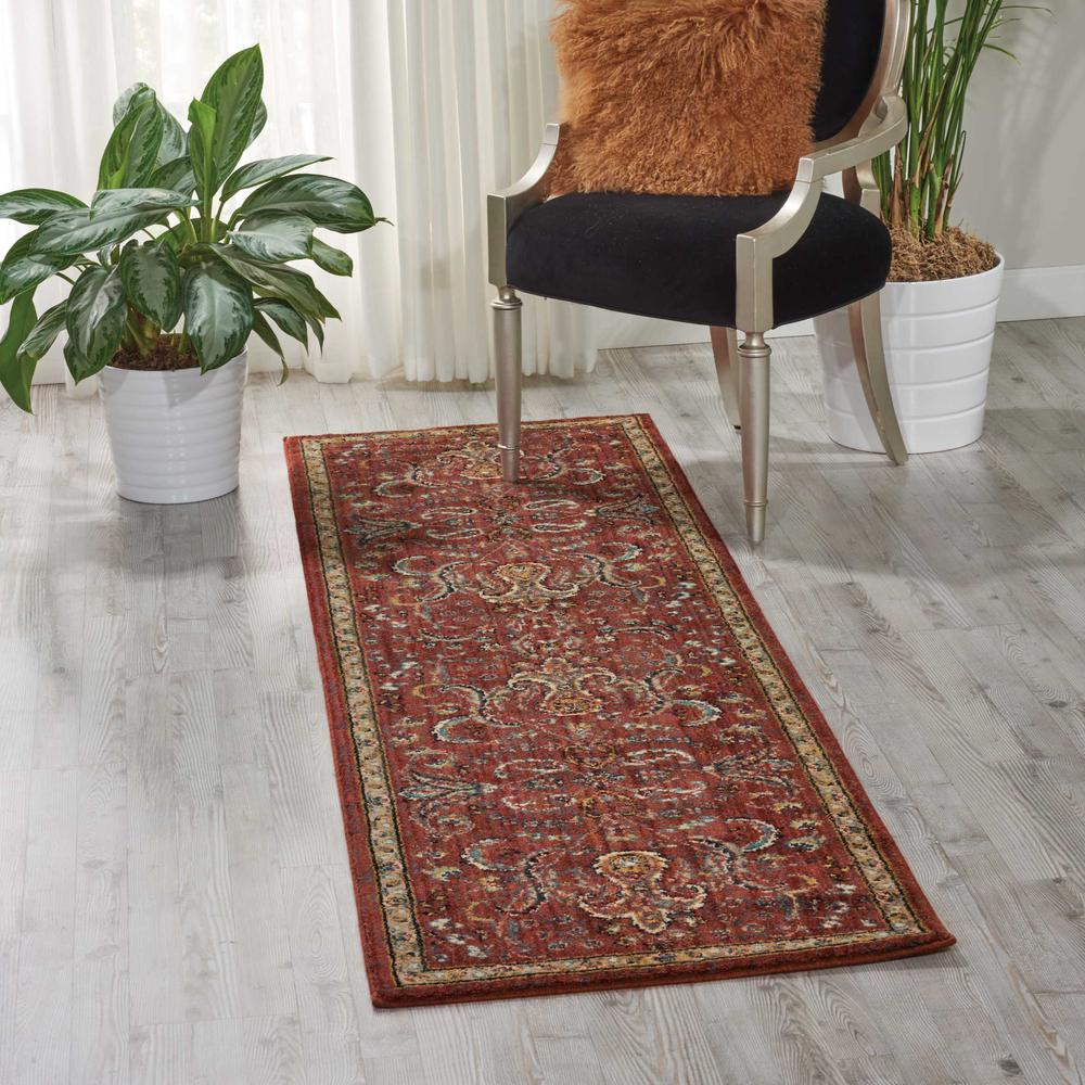 "Nourison 2020 Area Rug, Brick, 2'3"" x 8'. Picture 2"