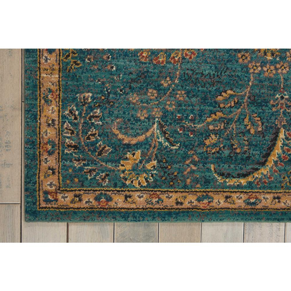 Nourison 2020 Area Rug, Teal, 4' x 6'. Picture 4