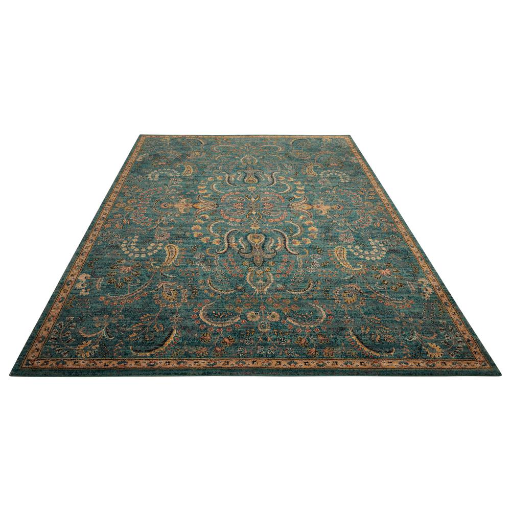 Nourison 2020 Area Rug, Teal, 4' x 6'. Picture 3