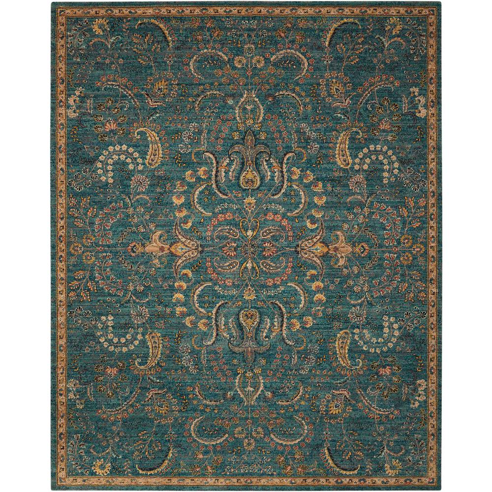 Nourison 2020 Area Rug, Teal, 4' x 6'. Picture 1