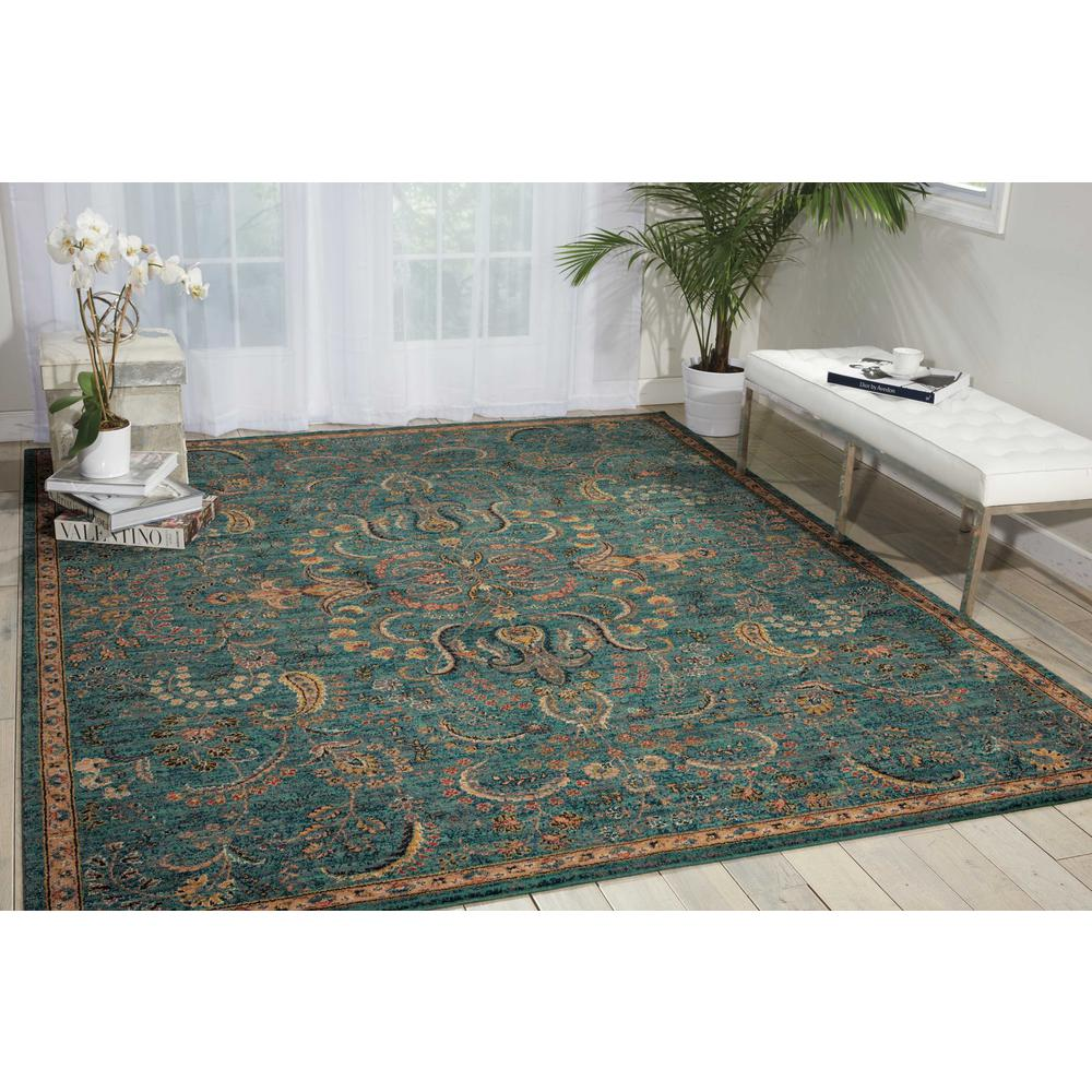 Nourison 2020 Area Rug, Teal, 4' x 6'. Picture 2