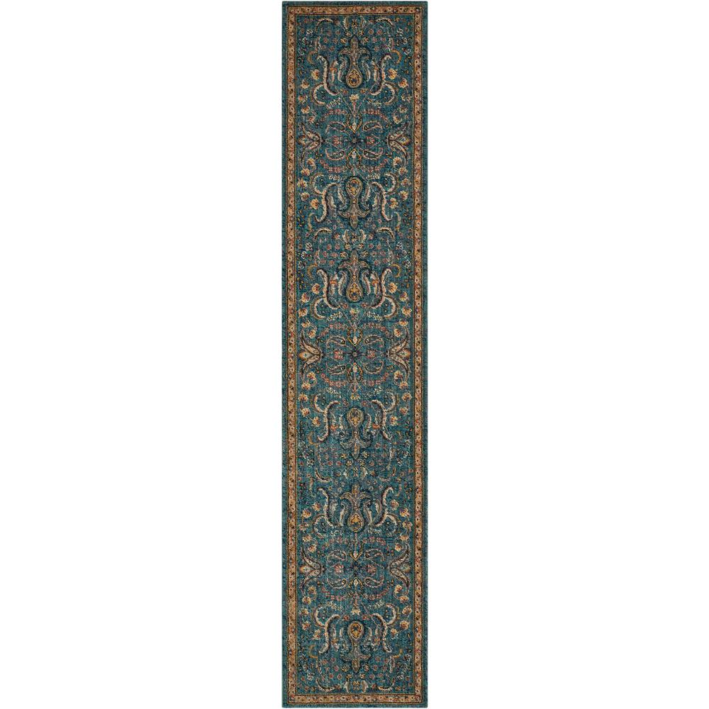 """Nourison 2020 Area Rug, Teal, 2'3"""" x 11'. Picture 1"""