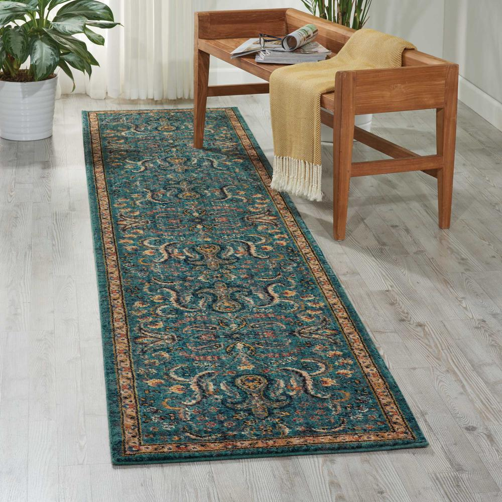 """Nourison 2020 Area Rug, Teal, 2'3"""" x 11'. Picture 2"""