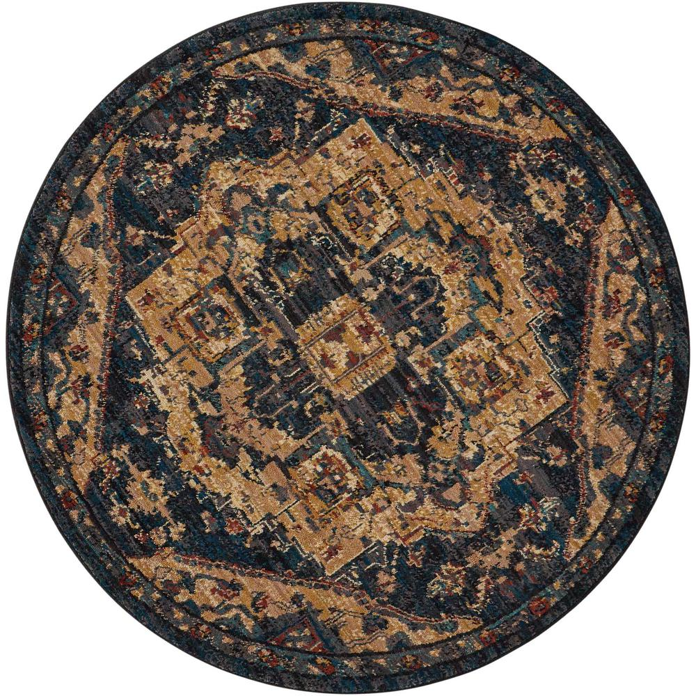 Nourison 2020 Area Rug, Midnight, 5' x ROUND. The main picture.