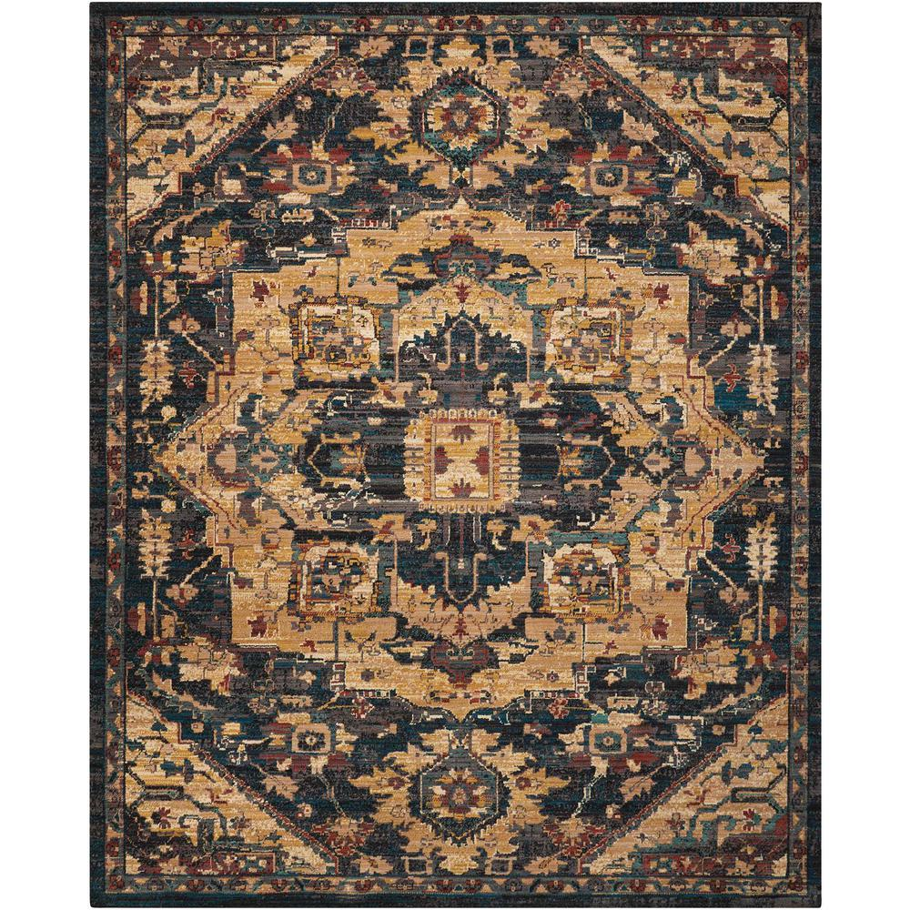 "Nourison 2020 Area Rug, Midnight, 9'2"" x 12'5"". Picture 1"